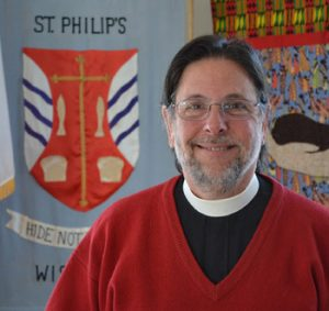 Rev. Paul Tunkle at St. Philip's Episcopal Church in Wiscasset on Jan. 29. Tunkle was officially installed as Priest in Charge of St. Philip's on Sunday, Feb. 1. (Abigail Adams photo)